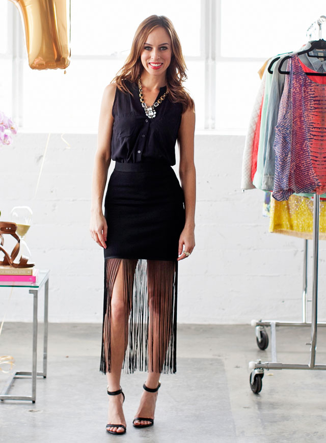 Sydne-Style-how-to-wear-fringe-hippie-trend-spring-summer-2014-outfit-ideas-fringe-skirt-black-bebe-outfit-ideas