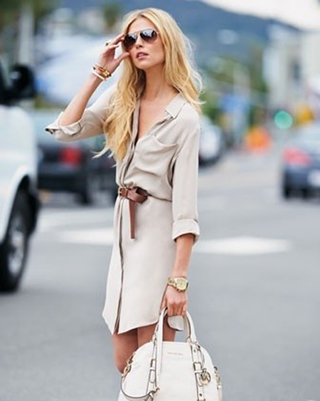 shirtdress-belted-white-bag-aviators-70s-look