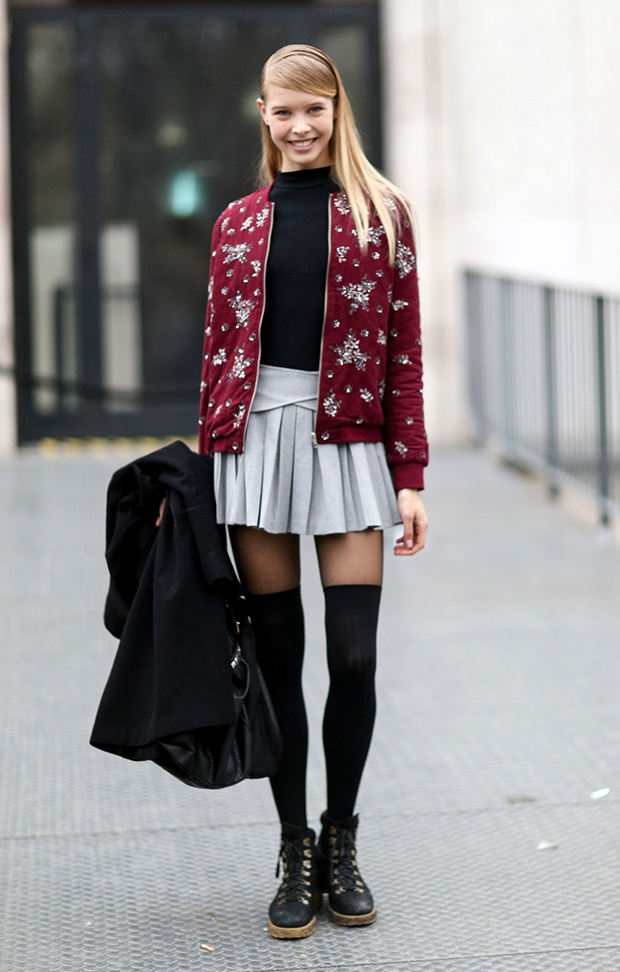 modelteenypleatedskirt
